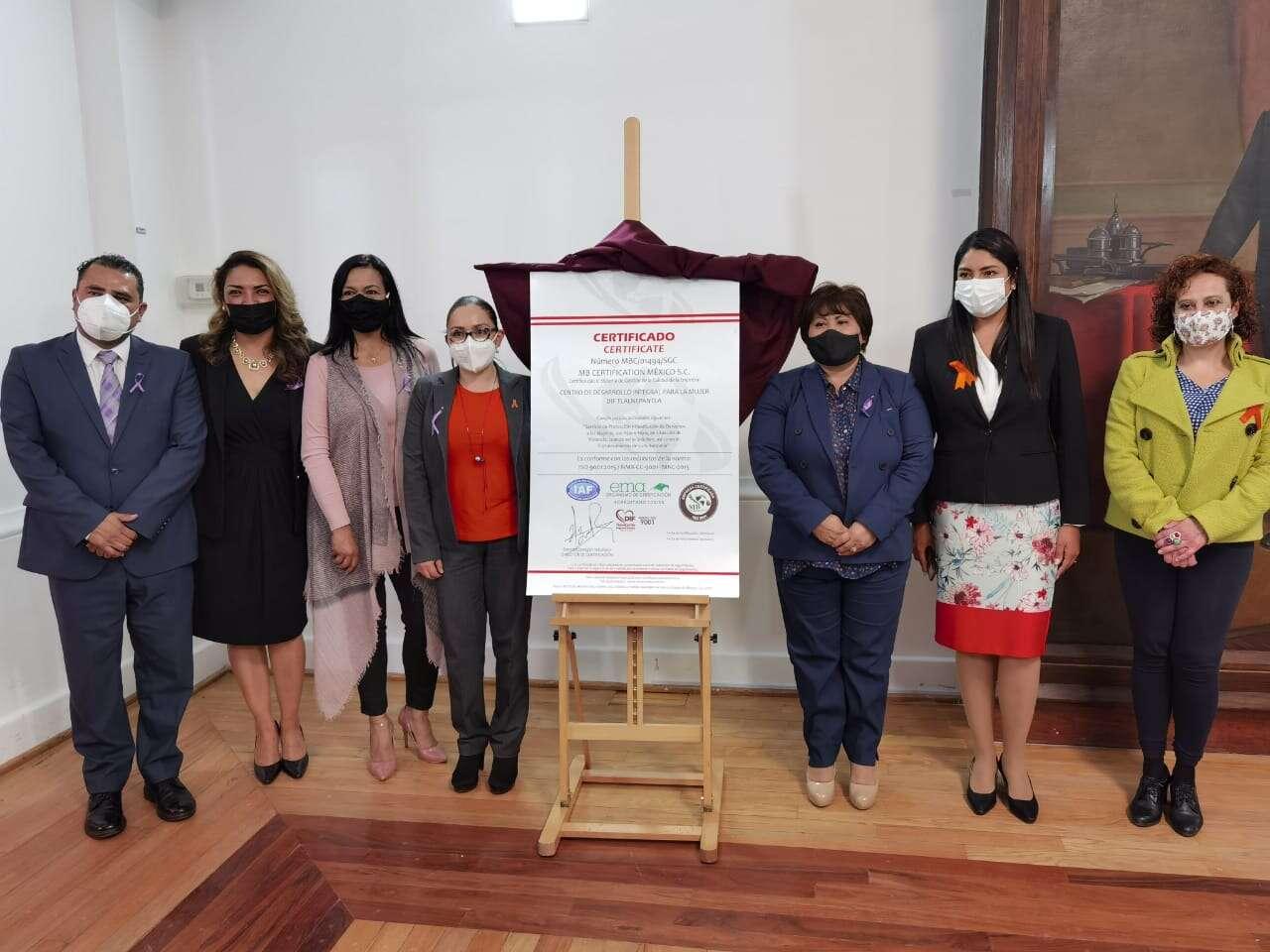 El CEDEIM del SMDIF Tlalnepantla recibió certificado de gestión de calidad